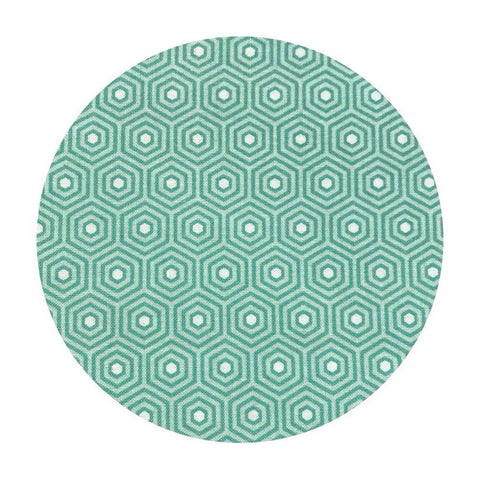 2 meters left! - Hexagon Teal - Lost & Found 2 Collection - Riley Blake Designs