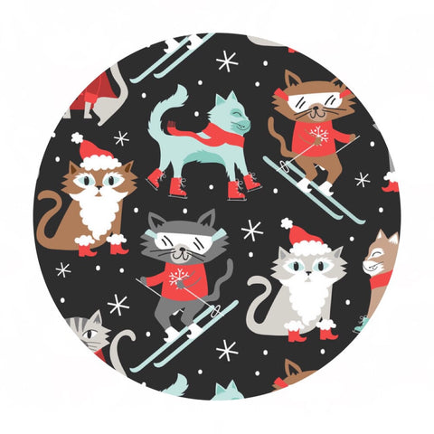 2 meters left! - Kitty Patrol in Gray - Snowlandia Collection - Blend Fabrics