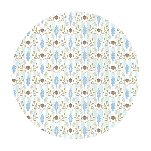 Little Acorn Blue - Born Wild Collection - Blend Fabrics