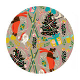 A Bear's Holiday in Taupe -  A Winter's Tail Collection - Blend Fabrics