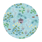 .5 meters left! - Duck Pond in Light Blue - The Village Pond Collection - Lewis & Irene Fabrics