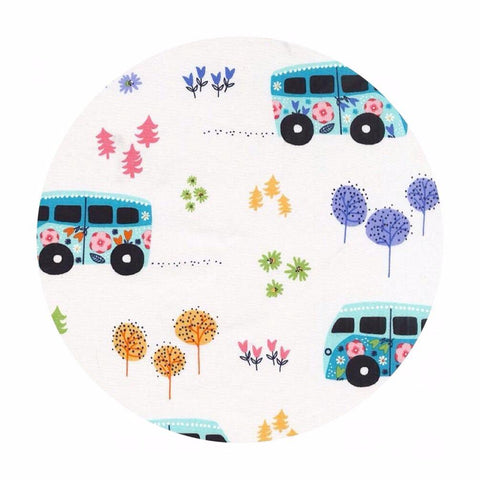 Hit the Road Happy Celestial Blue - Road Trip Collection - Michael Miller Fabrics
