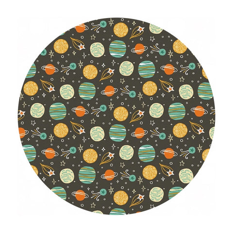 Planets in Yellow & Green - Space Monkey Collection - Paintbrush Studio Fabrics