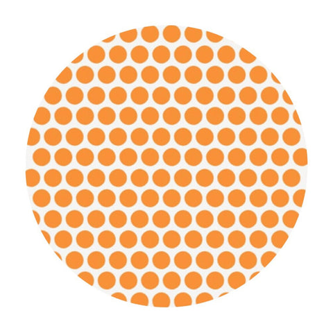 2 meters left! - Dottie Orange Organic Poplin - Birch Organic Fabrics