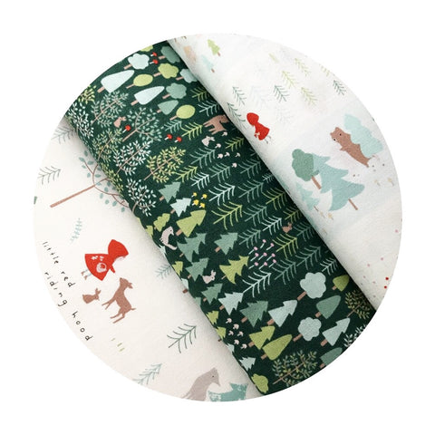 2 bundles left! - 3 Piece Half Meter Bundle - Little Red Collection - Dear Stella Fabrics
