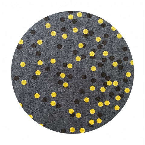 2 meters left! - Soft Black - Ombre Confetti Metallic Collection - Moda Fabrics