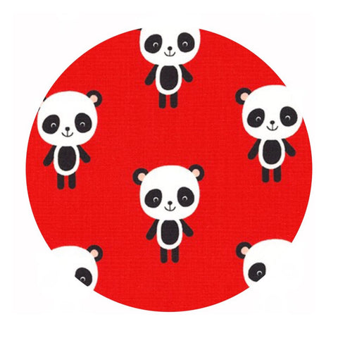 2 meters left! - Pandas in Red - Urban Zoologie Collection- Robert Kaufman Fabrics