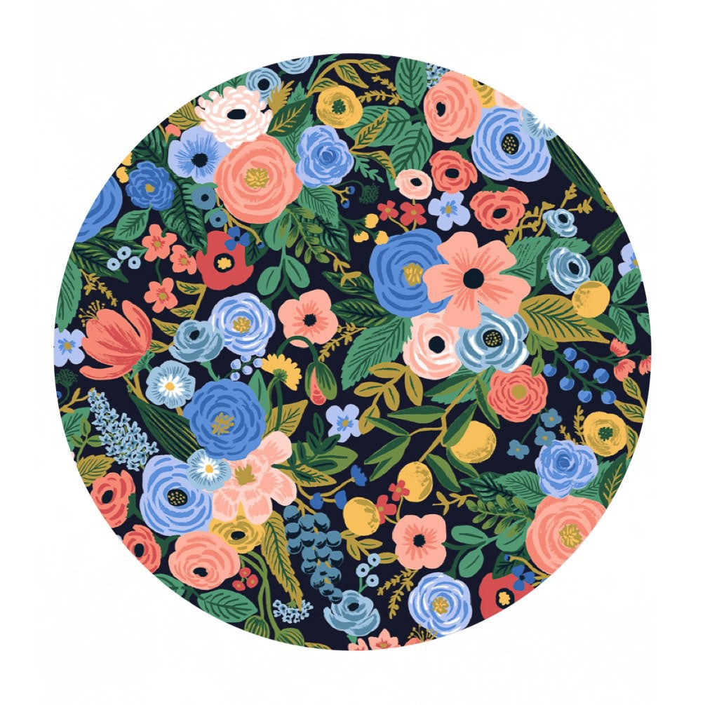 4 meters left! - Garden Party in Navy Cotton - Wildwood by Rifle Paper Co. - Cotton + Steel Fabrics