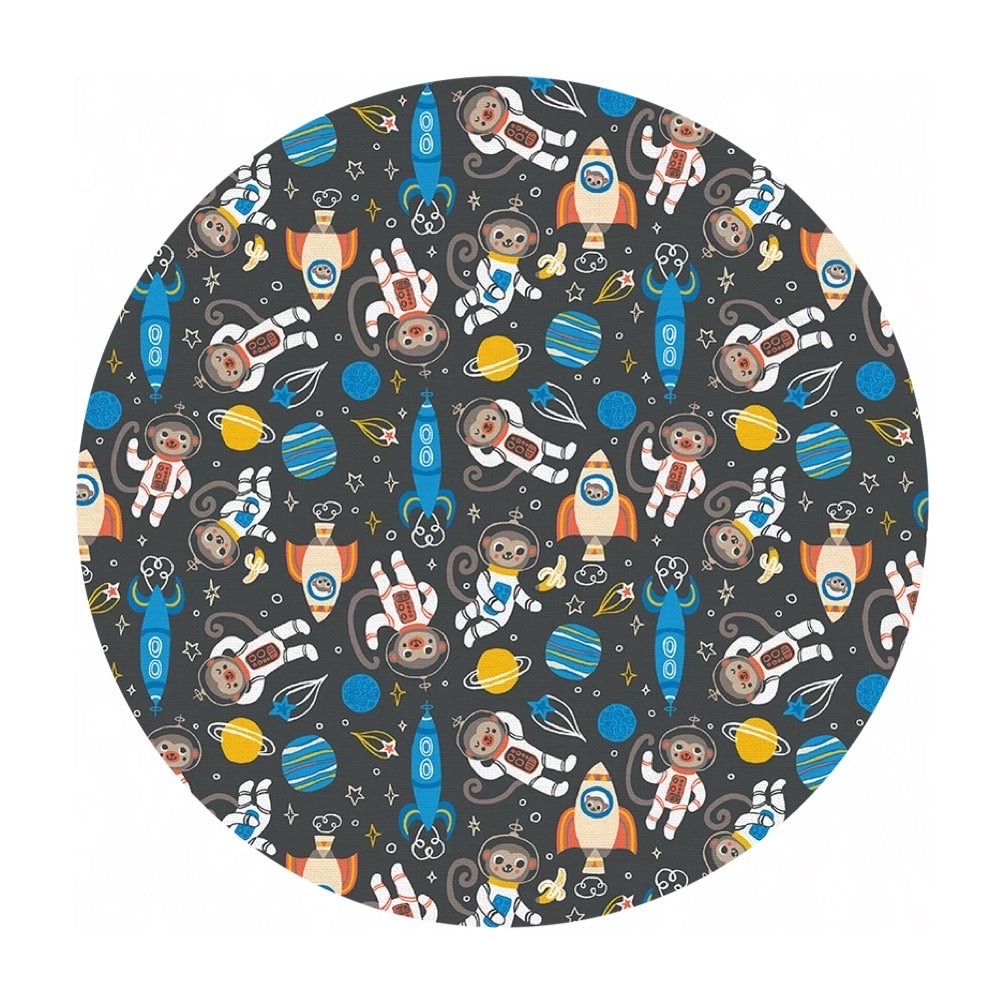 Space Monkey in Blue - Space Monkey Collection - Paintbrush Studio Fabrics