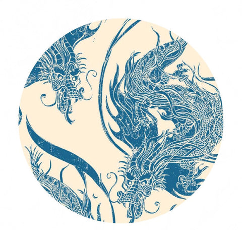 1 meter left! - Ninja Dragon Blue - Year of the Ninja - Riley Blake Designs