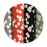 Poppies Sun Double Gauze - Birch Organic Fabrics