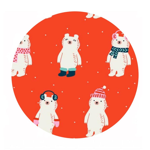3 meters left! - Snow Bears in Ruby - Flurry Collection - Sarah Watts - Ruby Star Society
