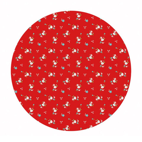 Little Floral Red in Flannel - Little Red Riding Hood Collection - Riley Blake Designs