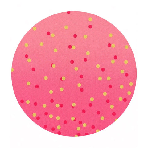 .5 meter left! - Hot Pink - Ombre Confetti Metallic Collection - Moda Fabrics