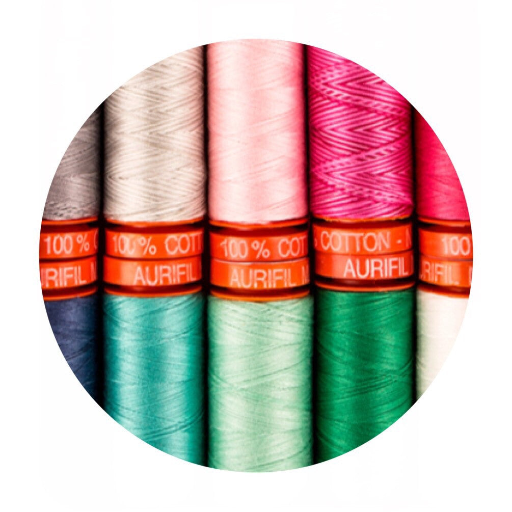Aurifil Thread - Color Me Happy Collection - 10 Small Spools Cotton 50WT