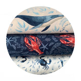 Oh Crab in Misty - Hooked on a Feeling Collection - Dear Stella Fabrics