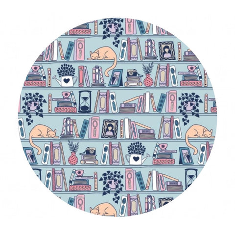 Shelfie in Light Blue - Literary Collection - Camelot Fabrics