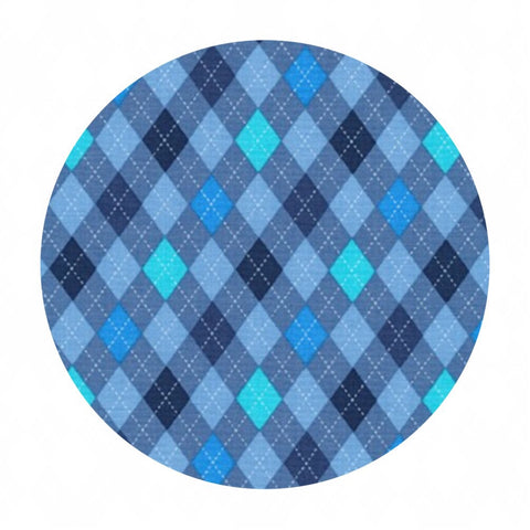 Argyle in Blue - Classy Canines Collection - Robert Kaufman Fabrics