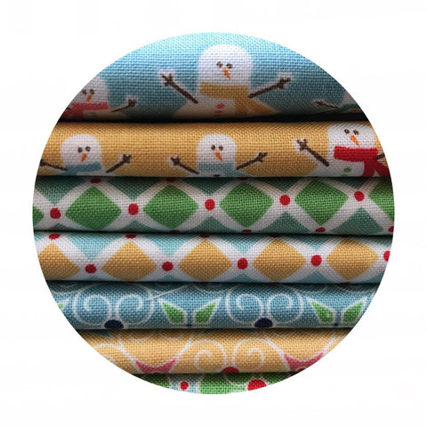 7 Piece Half Meter Bundle - Cozy Christmas - Riley Blake Designs