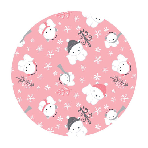 2 meters left! - Polar Cubs Flannel in Pink - Camelot Fabrics