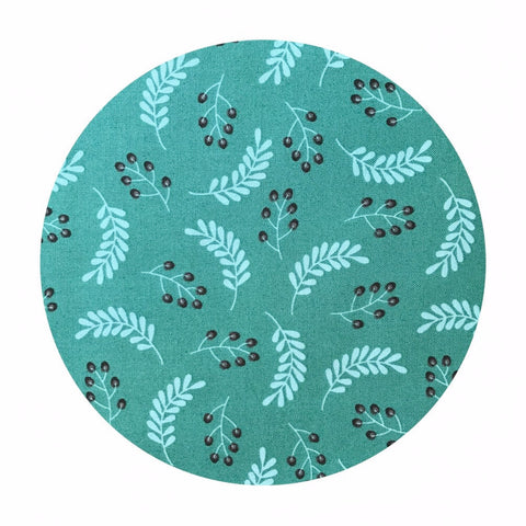 Leaves in Dark Turquoise - Make a Wish Collection - Camelot Fabrics