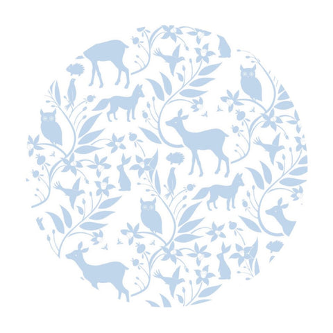 Woodland Creatures Blue - Born Wild Collection - Blend Fabrics