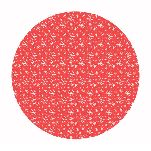 .5 meters left! - Blizzard in Coral - Snowlandia Collection - Blend Fabrics