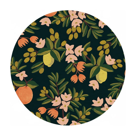 Re-stock! - Citrus Floral in Black Canvas - Primavera by Rifle Paper Co. - Cotton + Steel Fabrics