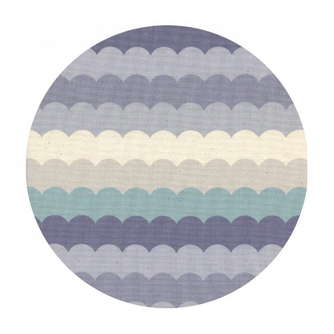 Scallops in Arctic - Panorama Cloud Collection - Cotton + Steel Fabrics