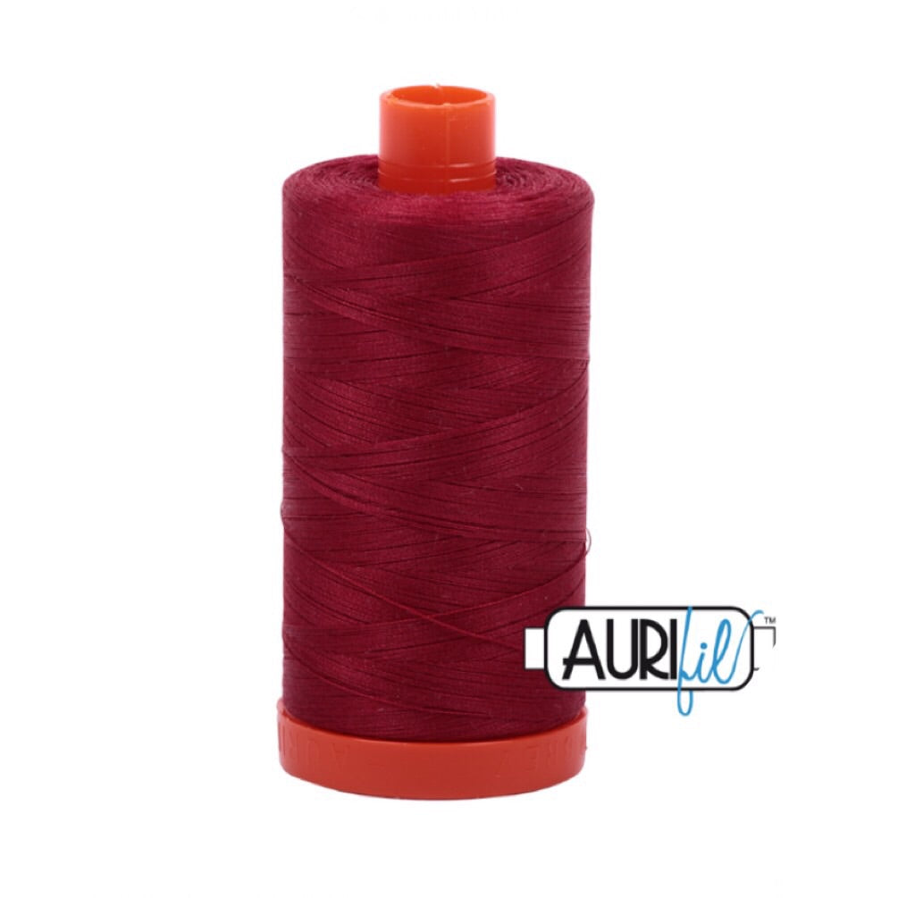 Aurifil Thread - 50wt Large Spool - Burgundy 1103
