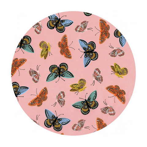 Monarch in Peach Cotton Lawn Metallic - English Garden by Rifle Paper Co. - Cotton + Steel Fabrics