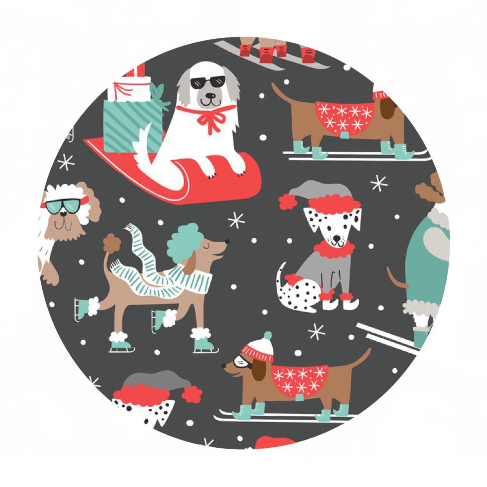3.5 meters left! - Winter Furries in Gray - Snowlandia Collection - Blend Fabrics