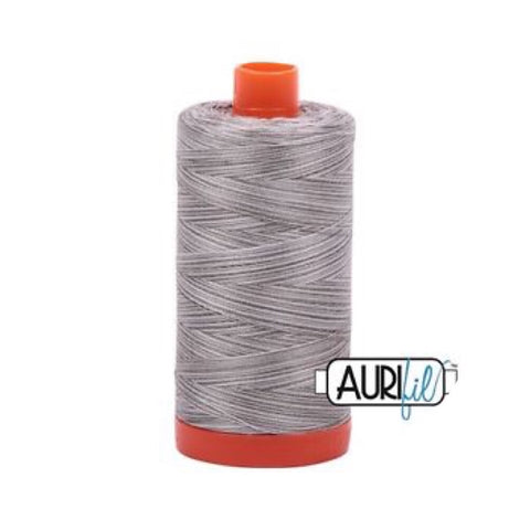 Aurifil Thread - 50wt Large Spool - Silver Fox 4670