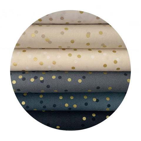 New Colours! - 17 Piece Half Meter Bundle - Ombre Confetti Metallic Collection - Moda Fabrics