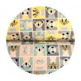 Playful Animal Block in Multi Flannel - Printed Flannel Collection - Camelot Fabrics