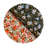 Re-stock! - Rosa in Black Cotton - Primavera by Rifle Paper Co. - Cotton + Steel Fabrics