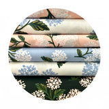 1 meter left! -  Hydrangea in Light Blue Cotton - Meadow by Rifle Paper Co. - Cotton + Steel Fabrics