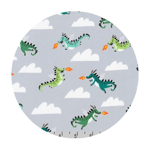 Dragons in Gray - Hello Lucky Collection - Robert Kaufman Fabrics
