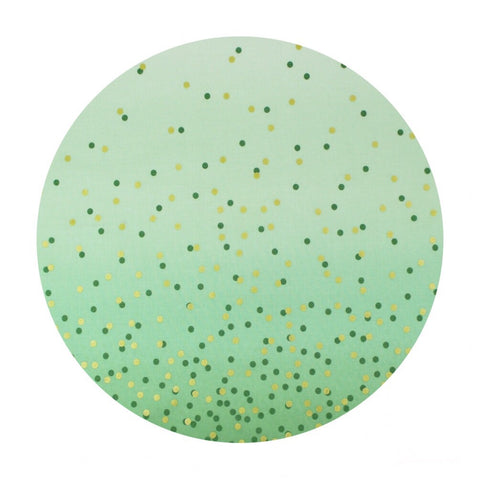 1 meter left! - Mint - Ombre Confetti Metallic Collection - Moda Fabrics