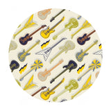 Amped Up Guitars in Cream - Rock On Collection - Camelot Fabrics