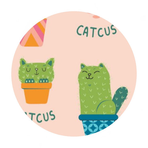 1 meter left! - Catcus - Very Punny Collection - Camelot Fabrics