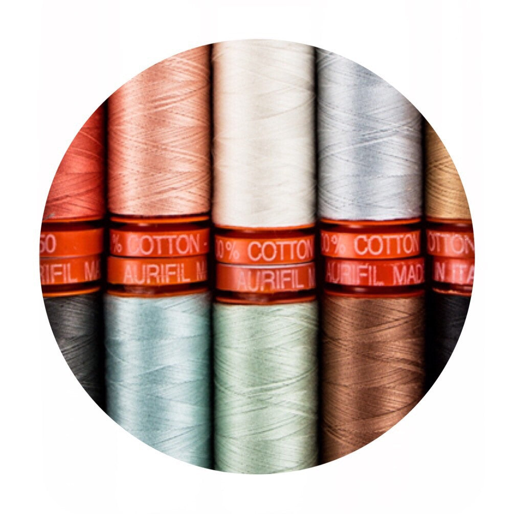 Aurifil Thread - Going Home to Roost Collection - 10 Small Spools Cotton 50WT