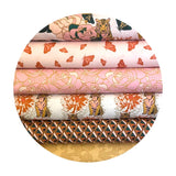 Moths in Pink - Tiger Lily Trail Collection - Paintbrush Studio Fabrics
