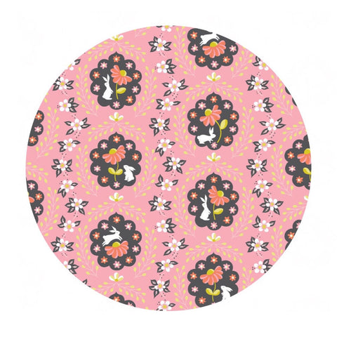 Bunny Patch Pink - Born Wild Collection - Blend Fabrics