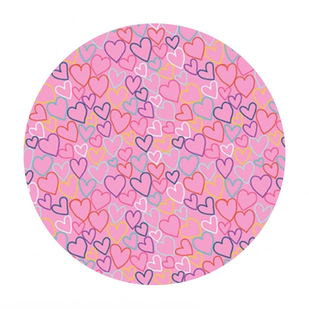 Hearts in Pink - Daydream Collection - Makower UK Fabrics