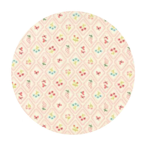 Garden Cameo Wallpaper Pink - Home Sweet Home Collection - Moda Fabrics