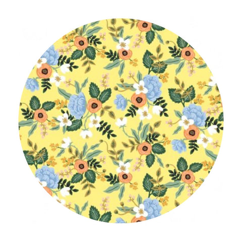 Birch in Yellow Cotton - Primavera by Rifle Paper Co. - Cotton + Steel Fabrics