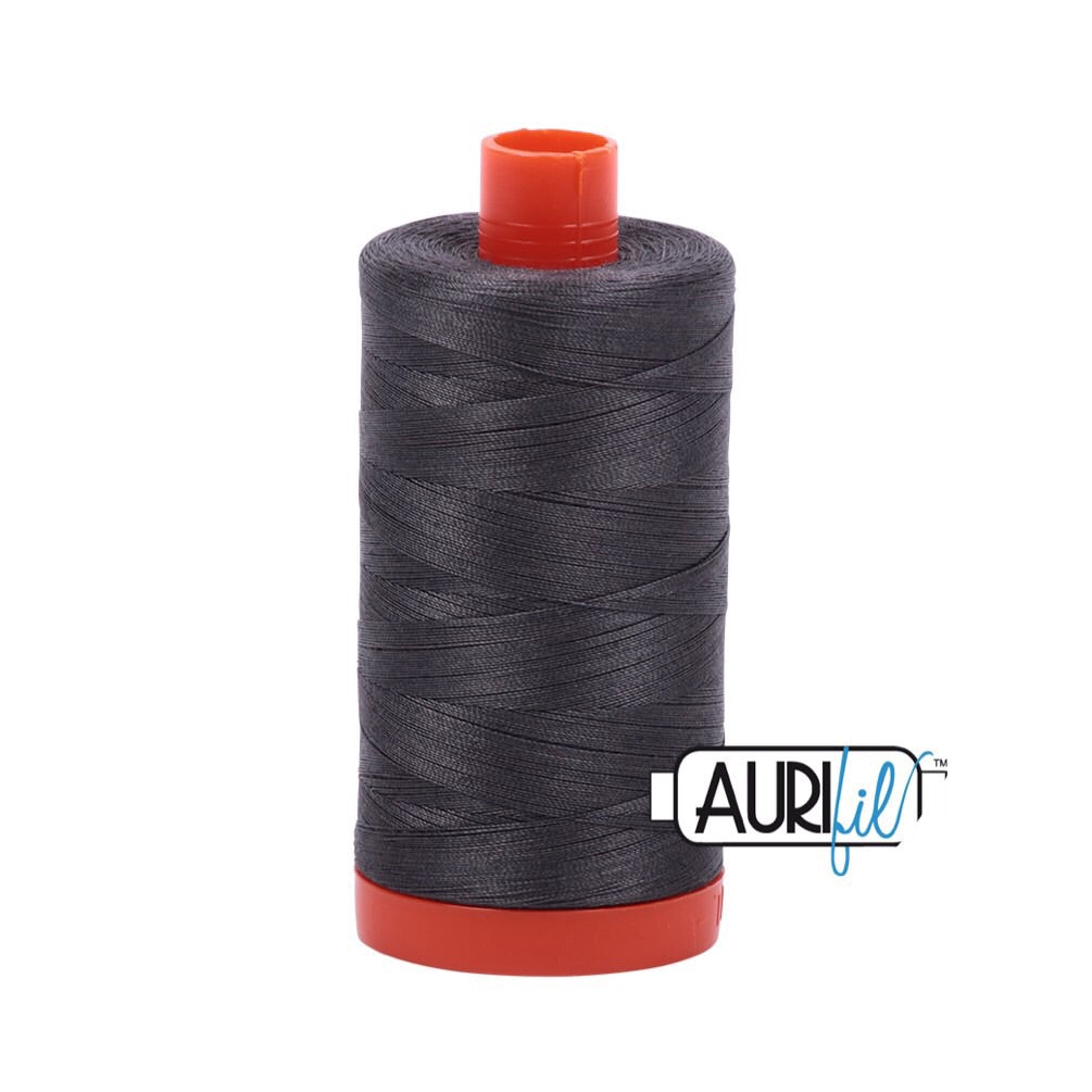 Aurifil Thread - 50wt Large Spool - Dark Pewter 2630
