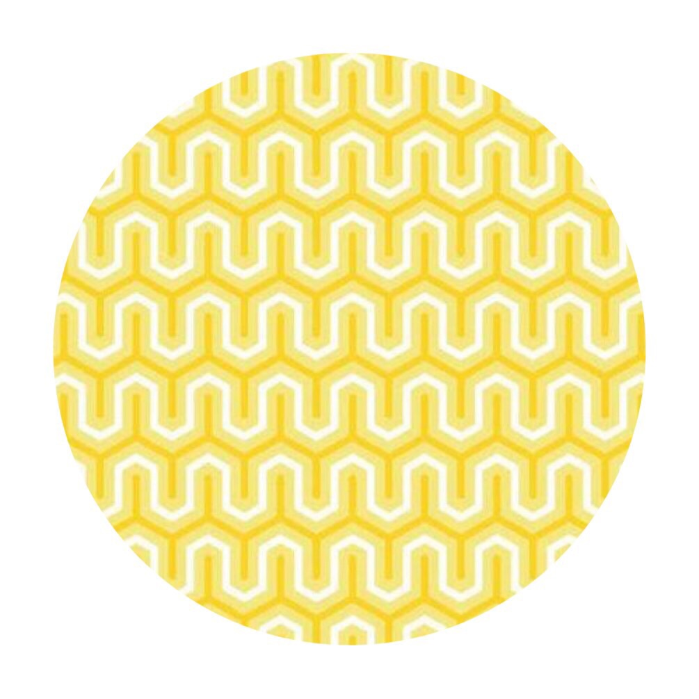 4 meters left! - Yellow Zigzag Cotton - Simply Sweet Collection - Riley Blake Designs