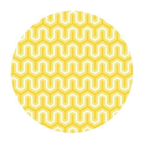 3 meters left! - Yellow Zigzag Cotton - Simply Sweet Collection - Riley Blake Designs